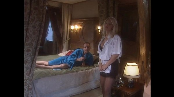 Classy blonde woman in black stockings banged in bed Thumb