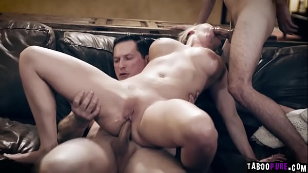 Stepson and stepdad fucking Christie together