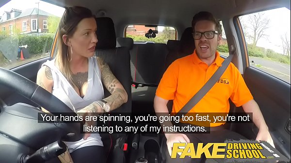 Fake Driving School Advanced horny lesson in sweaty messy creampie Thumb