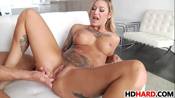 Tattooed Kleio Valentien squirting and gets anal