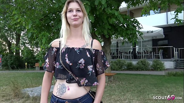 ▶▶ GERMAN SCOUT - 18yr Young College Teen Lara from Hamburg Talk to Fuck at Public Casting ◀◀ Thumb