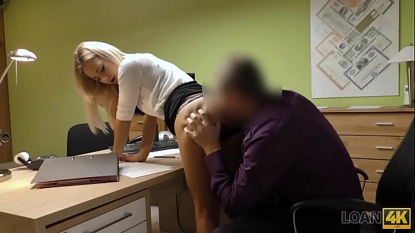 LOAN4K. Naughty babe Nathaly gives her shaved pussy to loan agent