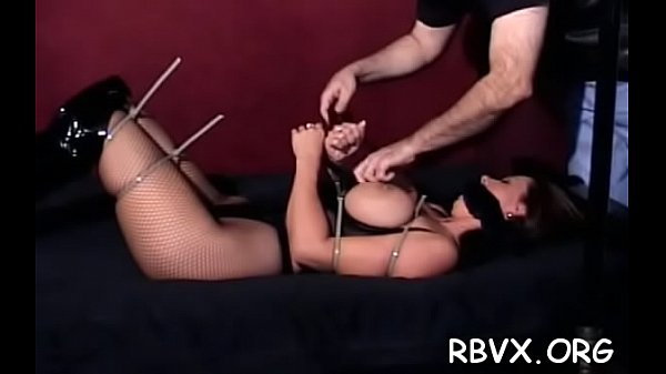 Hawt slut gets bounded and manhandled by a big dude