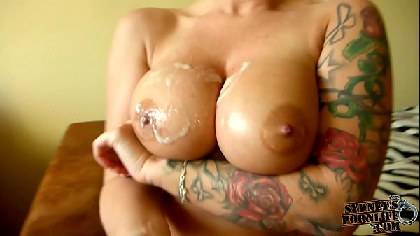 Sensational Titjob With Large Fake Tits!