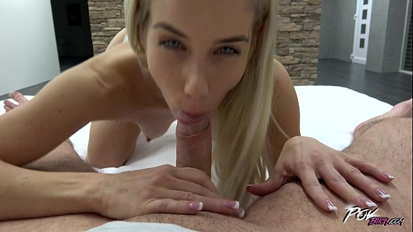 Leggy Blonde is Stretching Her Pussy Popped on a Hammer in POV Scenes