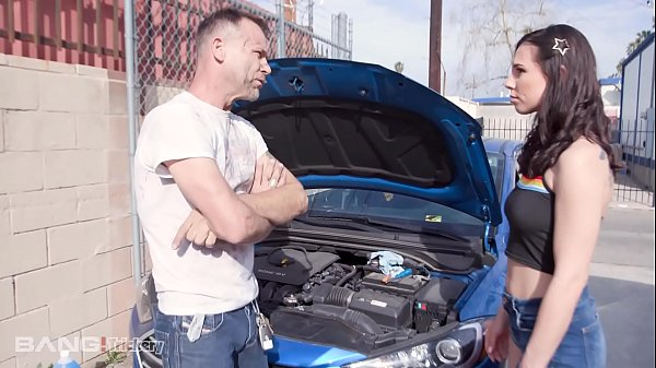 Trickery - Brunette Teen Pays Mechanic With Her Pussy Thumb