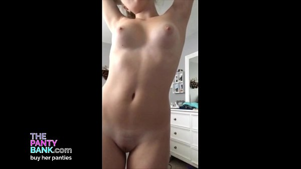 h. 18yo Blonde Strips And Talks Dirty While Playing With Her Tight Pussy | The Panty Bank Thumb