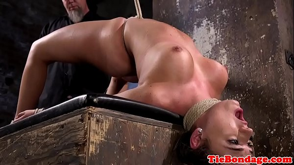 Tied up busty bdsm sub fingered and whipped Thumb