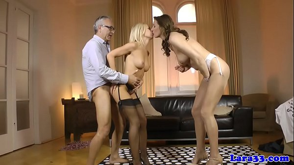Mature british cougar fucks in euro threesome
