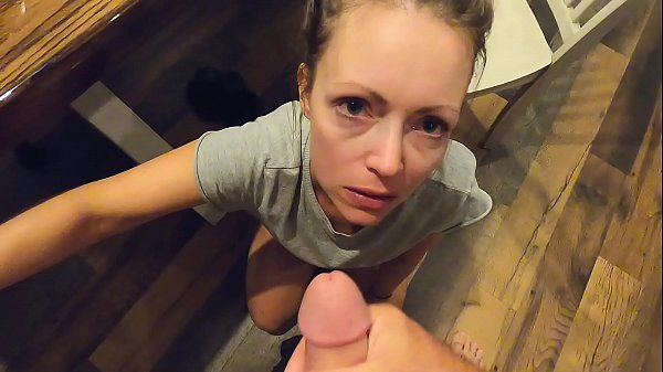 Sexy d. wife blows me until I explode on her face