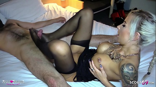 Perfect Footjob from German Teen Hooker for Cli...