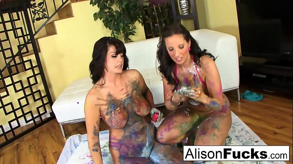 Painted lesbians with Alison Tyler and Kelly Divine! Thumb