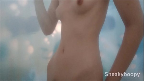 Spying on Pale Skinny Teen in Shower Thumb