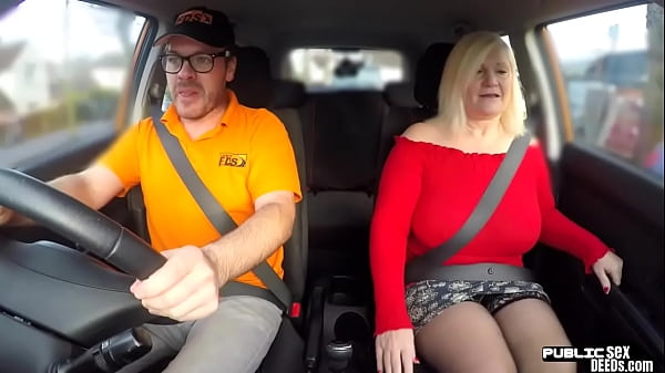 Chubby mature brit publicly rides and sucks