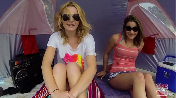 GIRLS GONE WILD - Lesbian Teens Audrianna & Britney Get Kinky On The Beach