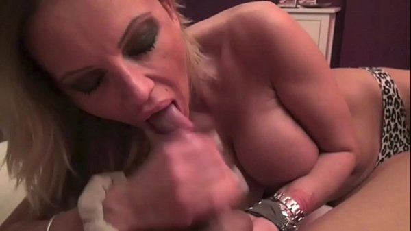 German Mom Help Step-Son with Blowjob in Homema...