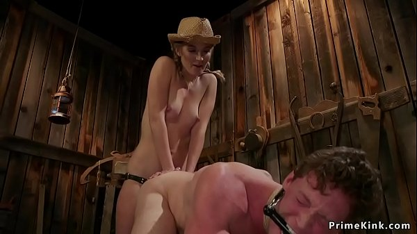 Dude rimming cowgirl mistress