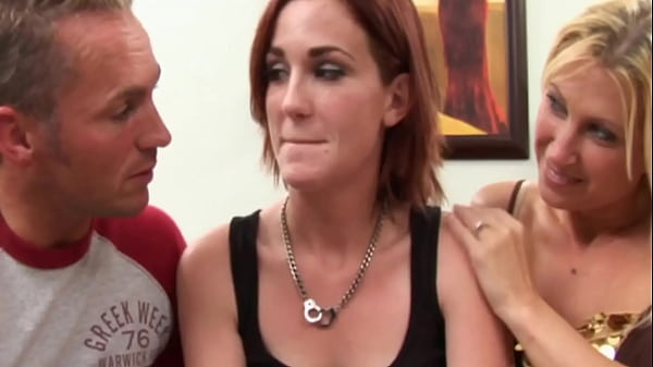 Young girl and old couple threesome