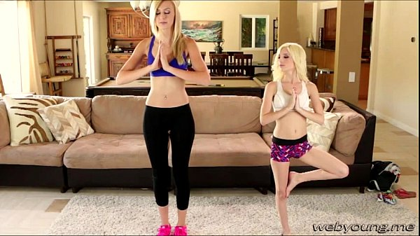 Yoga turns into ass licking session with Alexa and Pipper