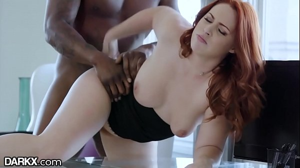 DarkX Curvy Redhead Drilled by Bosses BBC on Desk