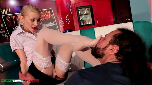 Elisa s Nephew First Part - Pantyhose Foot Domination