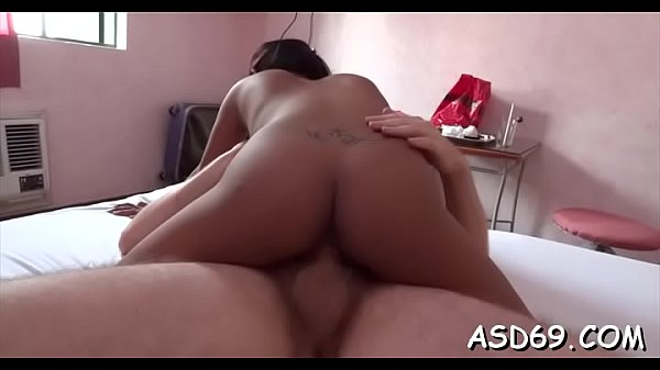 Talented oriental girl sucks a weenie and grinds on it hard