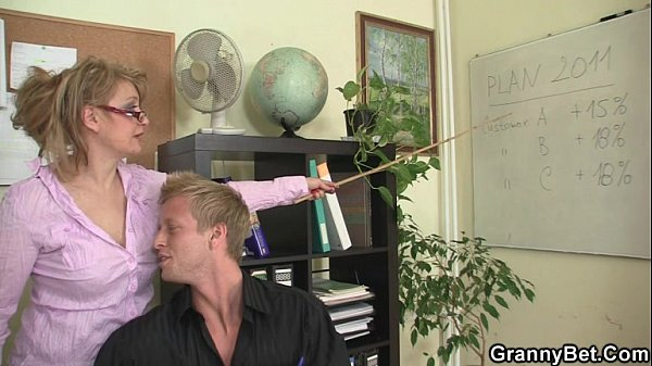 Mature office boss him fuck her hard