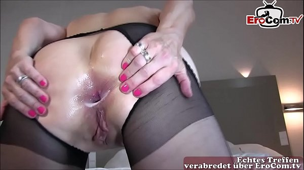 german mature housewife make anal with mega big...