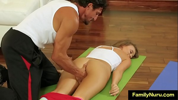 Daddy help me with injury with sexy massage