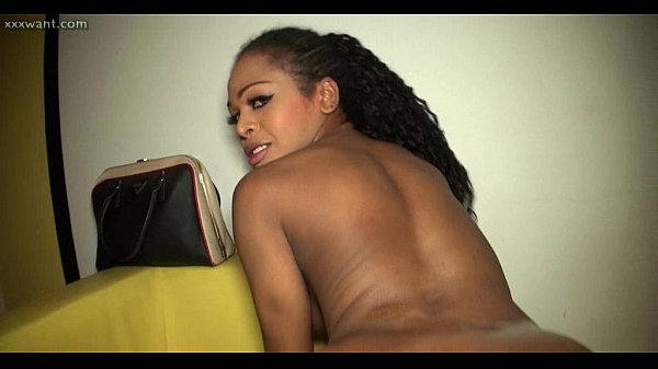 ebony shemale gets the best anal sex