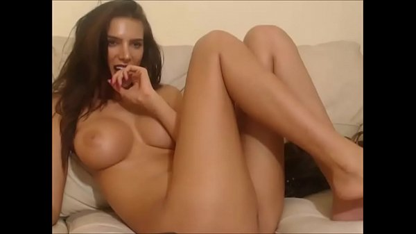 Hot Girl In A Cam Show Playing With Toys