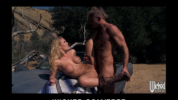 Hot blonde Nicole Aniston picks up a hitchhiker...