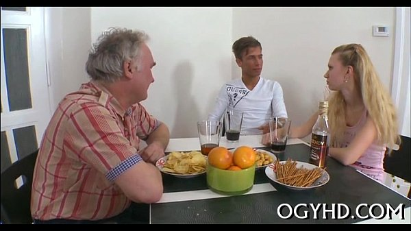 Hot j. babe banged by old guy