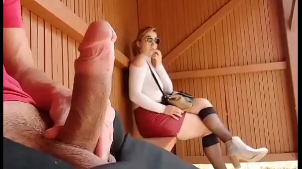 I take my cock out at this bus stop ... Unbelievable how this student will react! I'm shocked!! Thumb