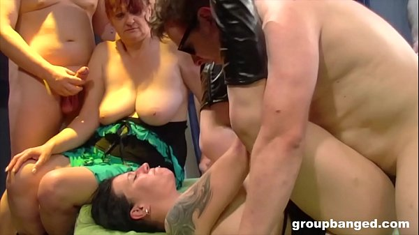 Granny gangbang with much y. horny sister