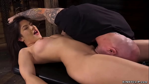 Little bound Asian anal fucked