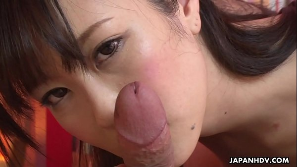 Japanese babe, Kotone Amamiya licks dick, uncen...