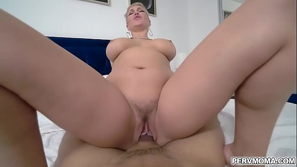 Ryan Keelys shaved wet pussy ride on top of a big young cock! Thumb
