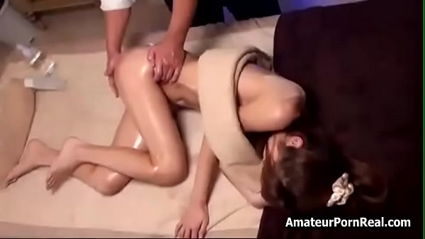 Sexy Tv Reporter Babe Gets Japanese Hot Massage...
