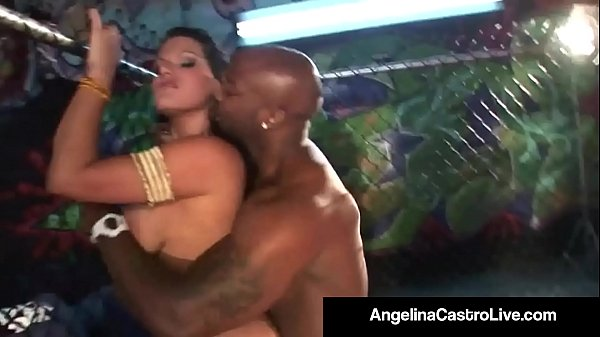 BBW Angelina Castro Sucks Nat Turnher's BBC In A Fight Cage!