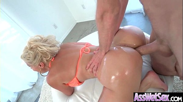 (Savana Styles) Big Oiled Butt Girl Love Anal Hardcore Sex clip-27
