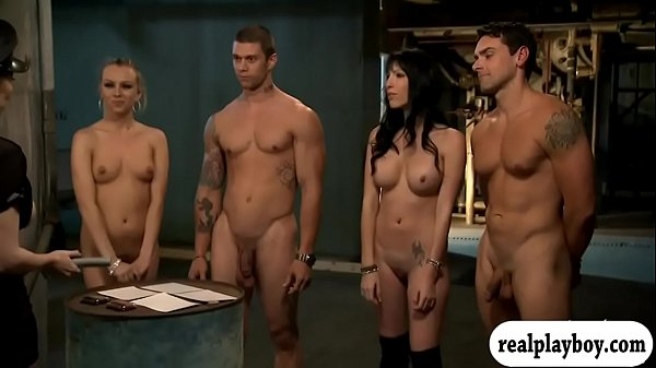 Hot women foursome inside the jail cell