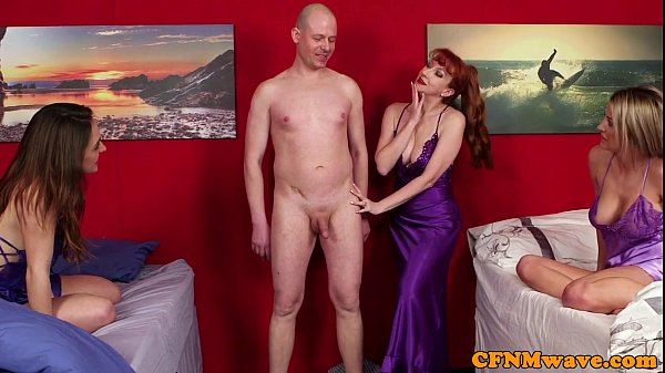 Redhead cfnm mature makes dude bust load