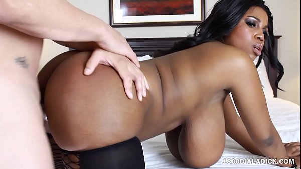 800DAD Big Tit Ebony Maserati Pounded by White Cock Thumb