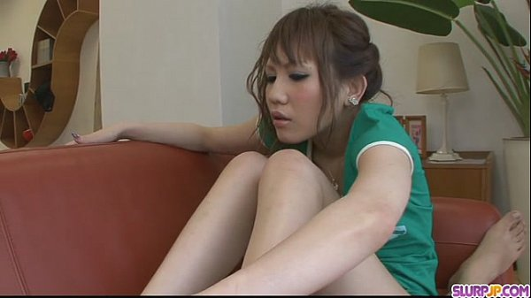 Petite Asian giving a rough and kinky foot job