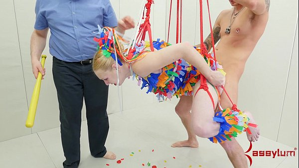 Anal pinata girl gets b. punishment