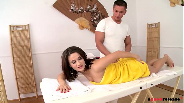 Euro Beauty Madlin enjoys a secret massage An...