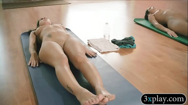 Busty teacher yoga exercises with 2 gals Thumb