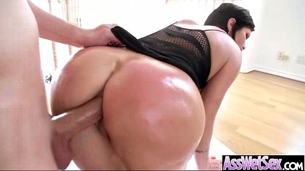 shay fox) Slut Girl With Big Butt Get Oiled And Deep Anal Sex mov-25