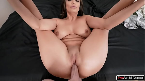 Busty brunette stepmom titfucks stepson